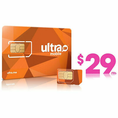 1st Month Pre-Loaded Ultra Mobile SIM Card with 29 Plan 5GB Services included