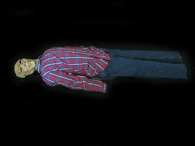 Life Size Dead Man Corpse Blow Up Body Scary Zombie Halloween Party Prop 72