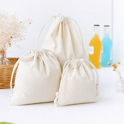 Linen Storage Package Bags Drawstring Bag Travel Women Cloth Bags Gift Pouch US