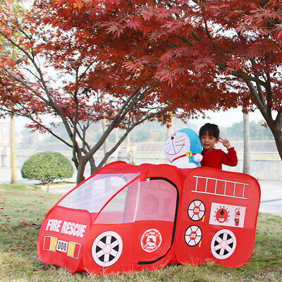 Fire Truck Kids Child Play Tent Playhouse Indoor Outdoor Pop Up Play Game Toy US