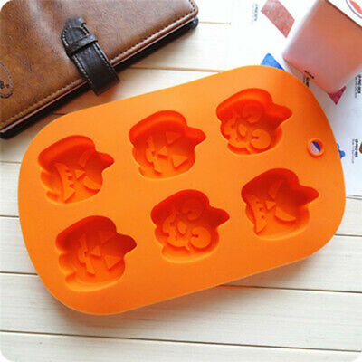 1PC Halloween Pumpkin Faces Cake Cupcake Decor Icing Chocolate Mold Ice Soap US