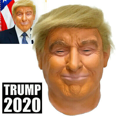 Realistic Donald Trump Mask Costume Cosplay Party Celebrity Latex Mask Halloween