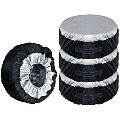 4pcs Universal Spare Wheel Protective Cover Tyre Tire Storage Bags 13-19  US