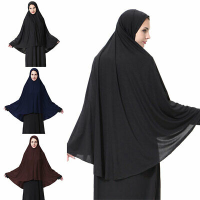 Abaya Womens Prayer Jilbab Long Dress Hijab Large Overhead Scarf Islamic Clothes