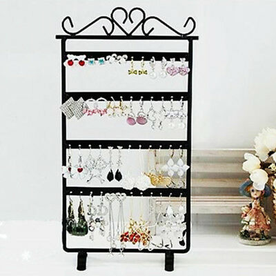 Earrings Jewelry Display Rack Stand Holder Necklace Ear Studs Metal Organizer US