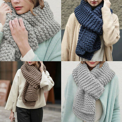 Women Cashmere Wool Scarf Large Shawl Winter Warm Long Knitted Scarf Neck Warmer