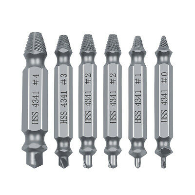 6 pcs Screw Extractor Set Damaged Screw Remover Extractor Set Made Of HSS 4341