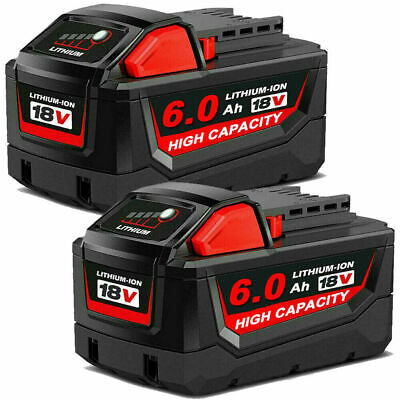 2Pack For Milwaukee M18 Lithium XC 5-0 AH Extended Capacity Battery 48-11-1850