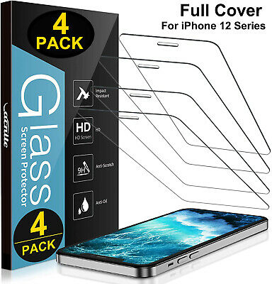 4 Pack iPhone 12 Pro max mini iPhone 12 Pro Max Tempered Glass Screen Protector