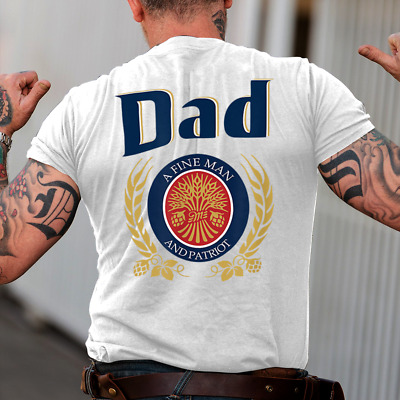 Dad A Fine Man And Patriot Gift T-Shirt For Dad Daddy Fathers Day