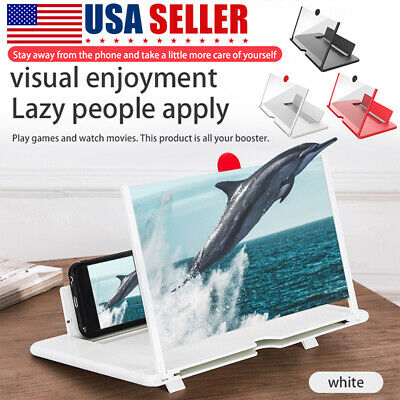 12 inch Mobile Phone Screen Magnifier HD Video Amplifier Pull-out Stand Bracket