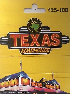 50 Texas Roadhouse Gift Card - Free Shipping