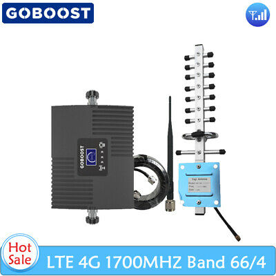 1700MHz Band 664 LTE Voice Data Cell Phone Signal Booster Repeater Kit Home Use