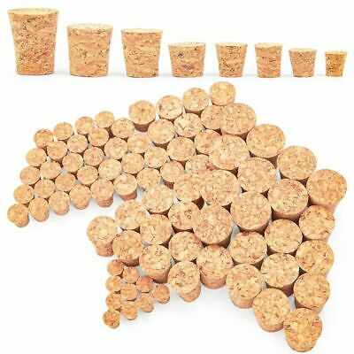 Small Tapered Cork Stoppers for Jars and Bottles 8 Sizes 80 Pieces