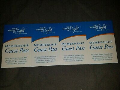 Four 4 Museum Of Flight Admission Tickets
