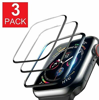 3-Pack For Apple Watch 5 4 3 2 Full Cover Screen Protector iWatch 3842 4044mm