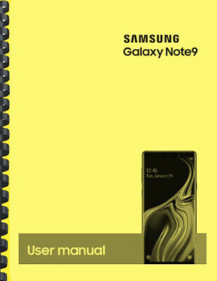 Samsung Galaxy Note 9 Note9 AT-T OWNERS USER MANUAL