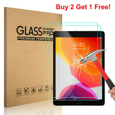 Premium Tempered GLASS Screen Protector for Apple iPad 8th Generation 2020 10-2