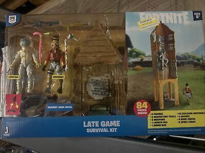 Fortnite Late Game Survival Kit Playset with 2 Figures 84 Pieces Set