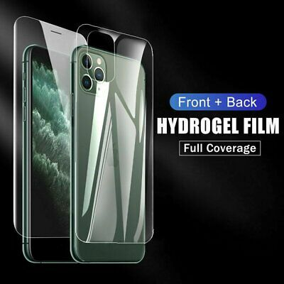2pcs Front - Back Hydrogel Screen Protector Film For iPhone 12 Pro Max Mini