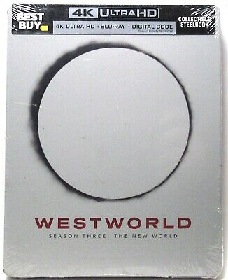 WESTWORLD Season 3 4K Ultra HD - Blu-Ray - Digital Steelbook Case NEW