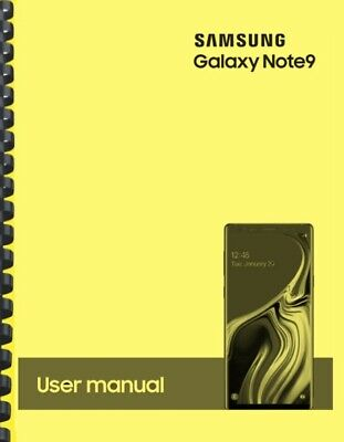 Samsung Galaxy Note 9 Note9 T-Mobile OWNERS USER MANUAL