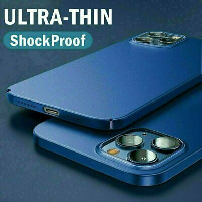 For iPhone 11 12 Pro Max Mini Ultra Thin Case Matte Hard Shockproof Slim Cover