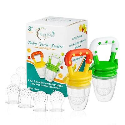 Baby Fruit Feeder Pacifier 2 Pack  Fresh Food 3-12 Months