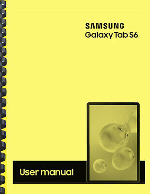 Samsung Galaxy Tab S6 Tablet OWNERS USER MANUAL