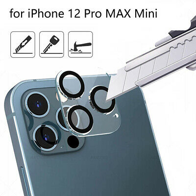 3 Pcs Tempered Glass Camera Lens Screen Protector Full Cover For iPhone 12 mini