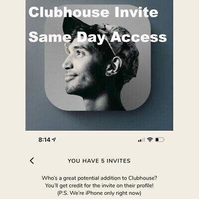 Official Clubhouse Invite 🔥 Instant Delivery 🔥 App Invitation Guaranteed IOS