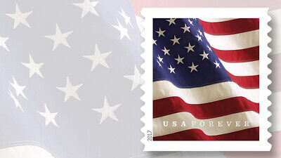 2017 Forever USPS Flag Stamps Coil of 100 stamps SELF ADHESIVES STAMPS