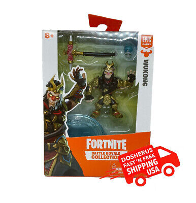 🔥NEW EPIC GAMES FORTNITE BATTLE ROYALE COLLECTION WUKONG TOY SET FREE SHIPPING
