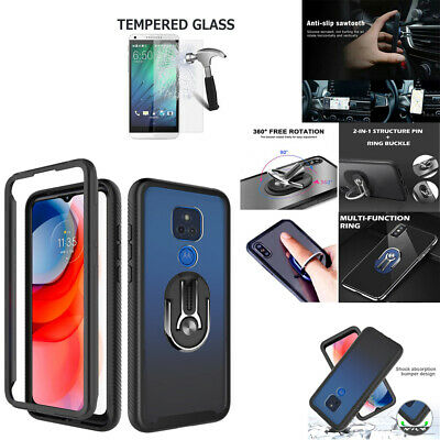 Phone Case For Metro Moto G Play 2021 6-5 Heavy Duty Bumper Cover