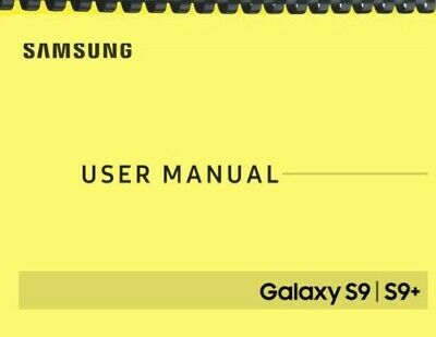 Samsung Galaxy S9 S9- Verizon OWNERS USER MANUAL
