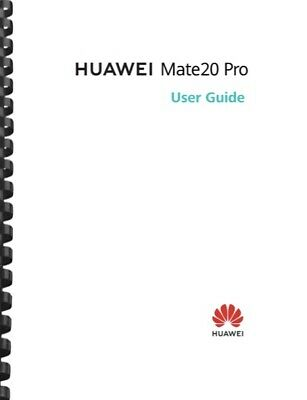 Huawei Mate 20 Pro Lite Cell Phone USER GUIDE OWNERS MANUAL
