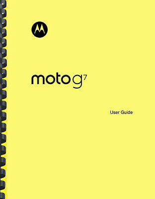 Motorola Moto G7 Phone OWNERS USER MANUAL