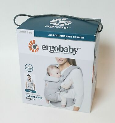 Ergobaby Omni 360 All Positions Baby Carrier  - Pearl Grey  - New 7-45 LBS