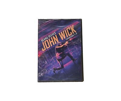 John Wick 3-Movie Collection Trilogy Chapter 1-3 DVD Keanu Reeves Fast Shipping