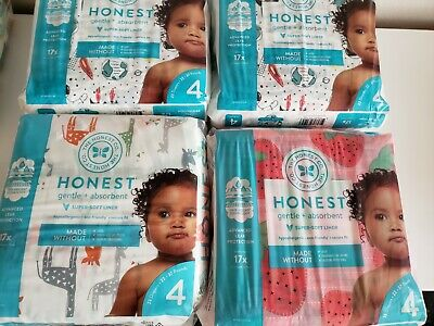 3-Pack NEW The Honest Company Gentle Diapers Size 4 69 ct Mix and Match