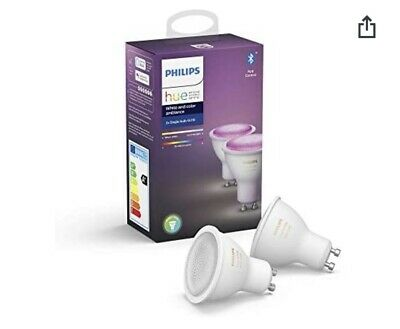 2 Philips Hue White and Color Gu10
