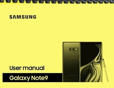 Samsung Galaxy Note 9 Note9 Verizon OWNERS USER MANUAL