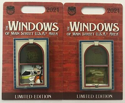 Disney Parks The Windows of Main Street USA Area Meteor Cycle Goofy LE Pin