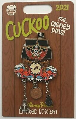 Disney 2021 The Pirates of the Caribbean Clock Cuckoo for Disney Pins LE Pin
