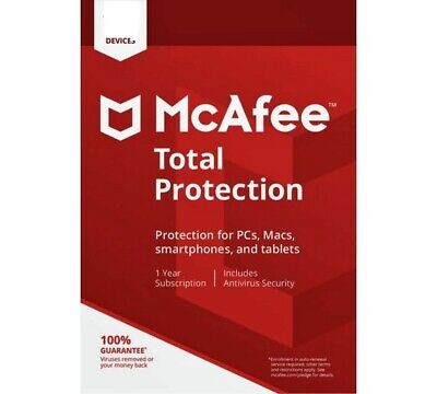 McAfee Total Protection 2021  1PC - 10PCs  1 - 3 Jahre  ESD  GLOBAL  NEU