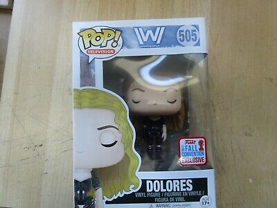 FUNCO POP WestWorld Dolores 505 Figure 2017 Convention Exclusive New Free Ship
