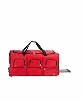 Rockland Rolling Duffel Bag Red 40-Inch