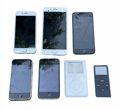 Lot of 5 Apple  iPhone 1st  3GS 6 7 Plus iPod A1040 - iPod A1137 for Parts