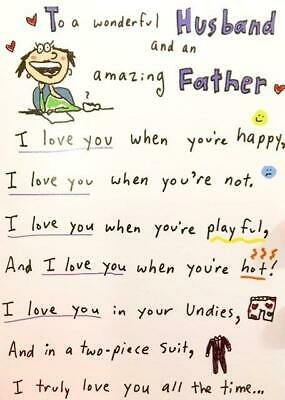 HUSBAND Love You All the Time FUNNY FATHERS DAY CARD POEM