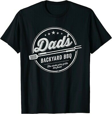 Dads Backyard BBQ Grilling - Vintage Style Fathers Day T-Shirt For Men S-3XL